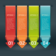 Colorful Origami Style Number Options Banner & Card. Vector