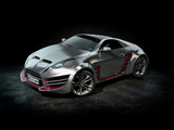 Brandless silver sports car