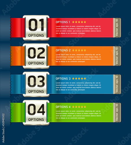 Colorful Medals with Ribbon Style Number Options Banner & Card.