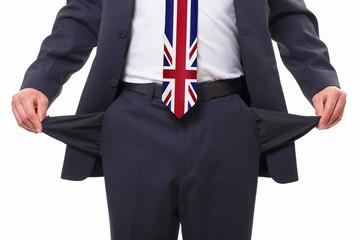 leere Taschen - UK debt