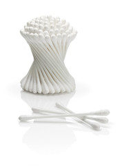 Cotton Buds on a white background
