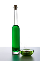 Grüne Flasche