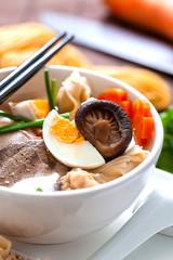 Asiatisch, wonton, suppe