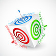 vector illustration of dart aiming business goal