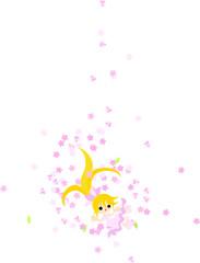 桜の花と共に、華麗に舞う金髪の少女。