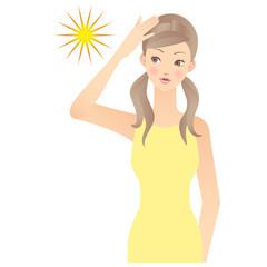 女性 日焼け UV