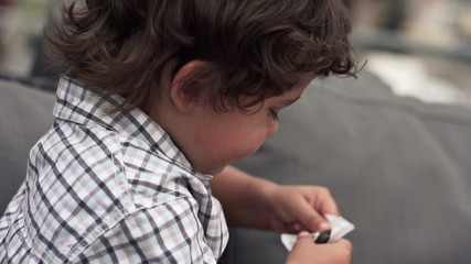 Cute little boy, super slow motion, shot at 240fps