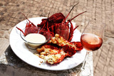 Crayfish and wine