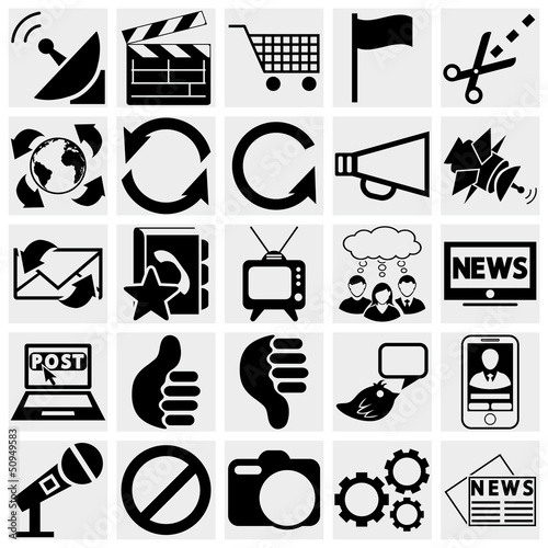 Media and communication icons.