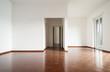 interior house empty, white walls parquet floor