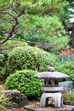 Rock lantern in Japanese zen garden
