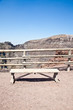 Bench in front Vesuvius crater