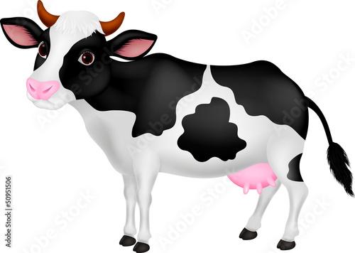 Foto op Canvas Boerderij Cute cow cartoon