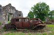 Cars of the doctor in Oradour sur Glane