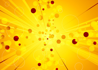 Solar explosion - shiny abstract background