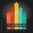 Colorful Infographics Number Options Banner & Card. Vector illus