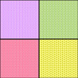 Four fabric seamless textures