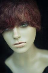 mannequin vitrine coiffure