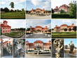 Collage of Troya Castle in Prague