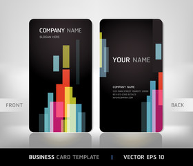 Business card set with abstract background. Vector illustration.