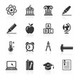 Education Icons set 2. Vector Illustration. More icons in my por