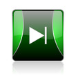 next black and green square web glossy icon