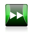 scroll black and green square web glossy icon