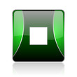 stop black and green square web glossy icon