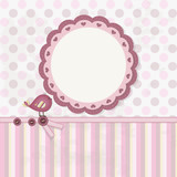 Baby Girl - Scrapbook - Place your text and photo