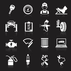 Car service maintenance icon set2. Vector illustration.