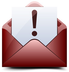 Red Exclamation mail