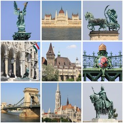 Budapest landmarks collage