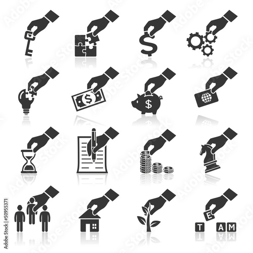Hand concept icons. vector eps 10. More icons in my portfolio.