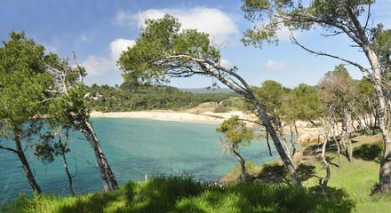 Panorámica playa Cap Roig, Costa Brava