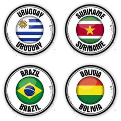 timbres Amérique du Sud