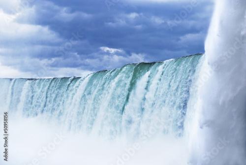 Niagara Falls on a stormy day