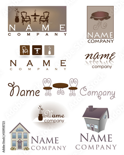 home design furniture logo
