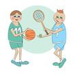 Cartoon sportsmen