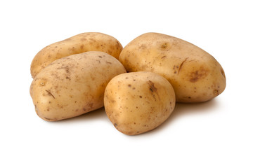 Yukon Gold Potatoes isolated