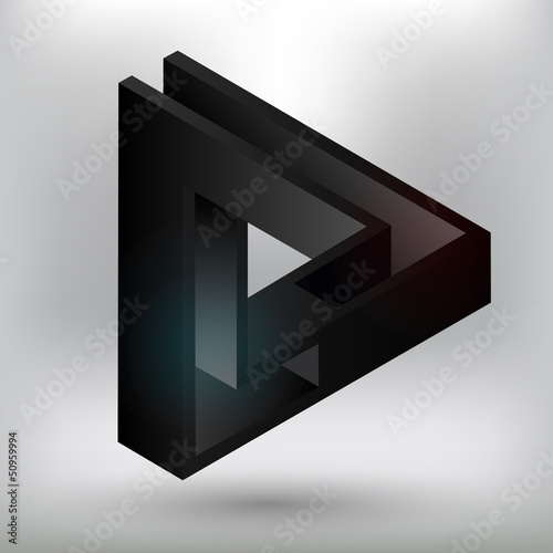 Black triangular element