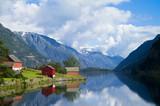 Fototapety Folgefonn from Sandvevatnet, Odda, Hardanger, Norway