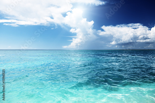 Caribbean sea and sunny day