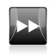 scroll black square web glossy icon