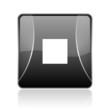 stop black square web glossy icon