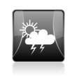 weather forecast black square web glossy icon