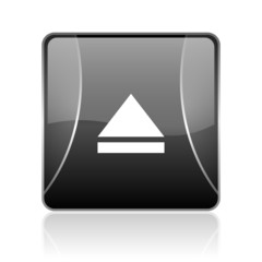 eject black square web glossy icon