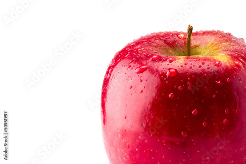 Red Apple with space for copy text