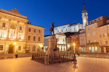 Tartini square in Piran, Slovenia, Europe
