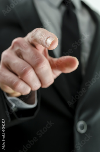 Cropped view of a hand with pointed finger