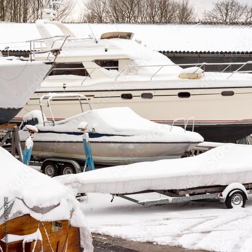 Bootslagerung im Winter